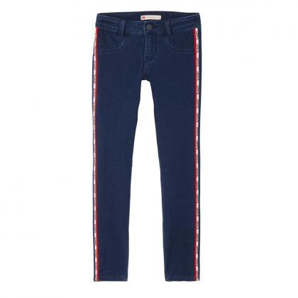 Levi's super skinny Jeans 710 mit Logo Track-Streifen in blau