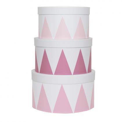 Jabadabado Aufbewahrungs Set, 3 Stück - pink