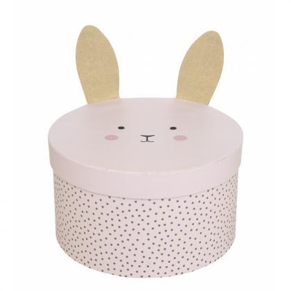 Jabadabado Aufbewahrungs Box Hase - rosa