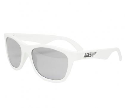 Babiators Aces Shades Sonnenbrille schwarze Brillengläser in weiss