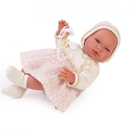 Asi Dolls Puppe Maria mit Blumenkleid, 43 cm - beige