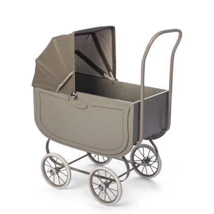 By Astrup retro doll pram with mattress - vintage grey