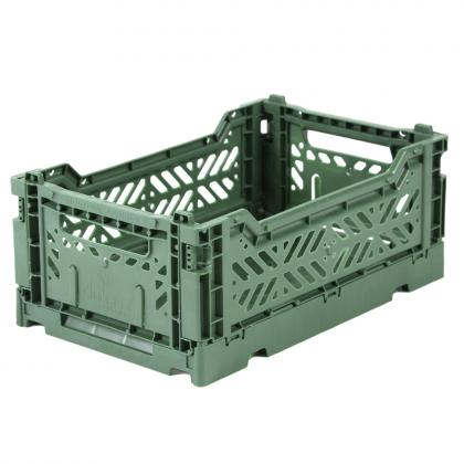 Ay-Kasa stabelbare Klappbox Mini, 27x17x10,5 -  Almond Green