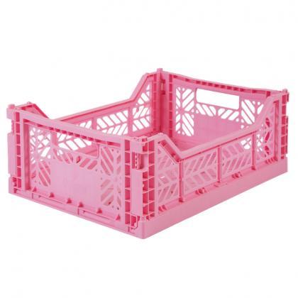 Ay-Kasa stackable folding box Midi, 40x30x14 - Baby Pink