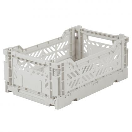 Ay-Kasa stabelbare Klappbox Mini, 27x17x10,5 -  Hellgrau