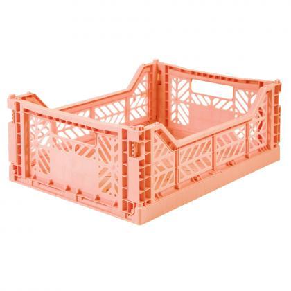Ay-Kasa stabelbare Klappbox Midi, 40x30x14 -  Salmon
