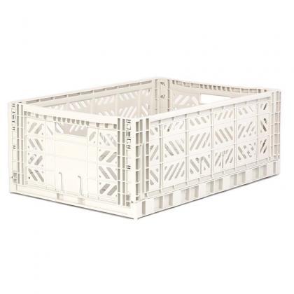 Ay-Kasa stabelbare Klappbox Maxi, 60x40x22 -  Coconut Milk