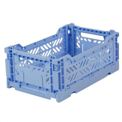 Ay-Kasa stabelbare Klappbox Mini, 27x17x10,5 -  Baby Blue