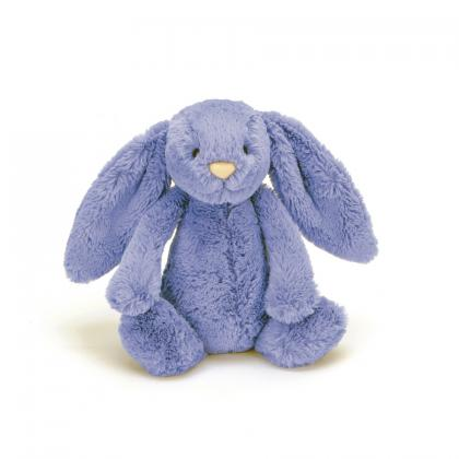 Jellycat Bashful Bluebell Bunny in purple (S-M)