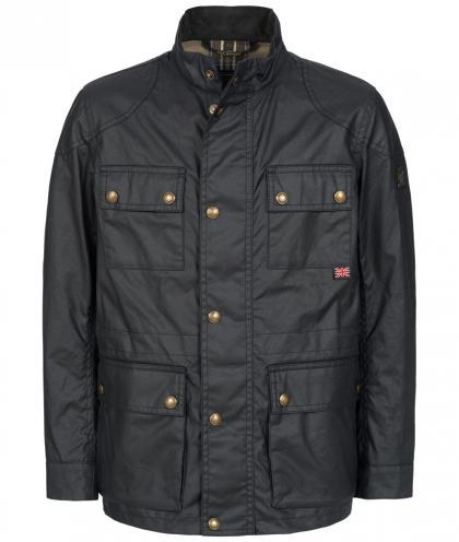 Belstaff Roadmaster waxed biker jacket in navy