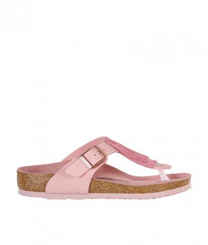 Birkenstock Zehensteg-Sandale Gizeh Kids Fringes in rosa