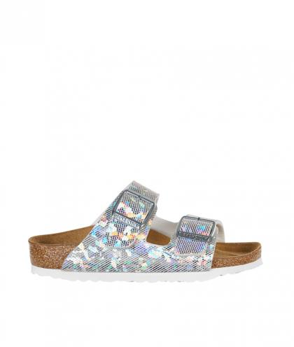 Birkenstock Sandale Arizona Kids Hologram in silber
