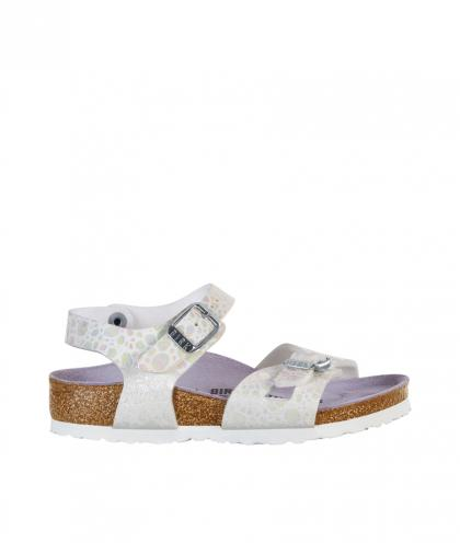 Birkenstock Sandale Rio Kids Metallic Stones in weiss