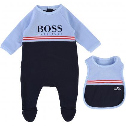 Boss Baby Strampler-Set in marine blau