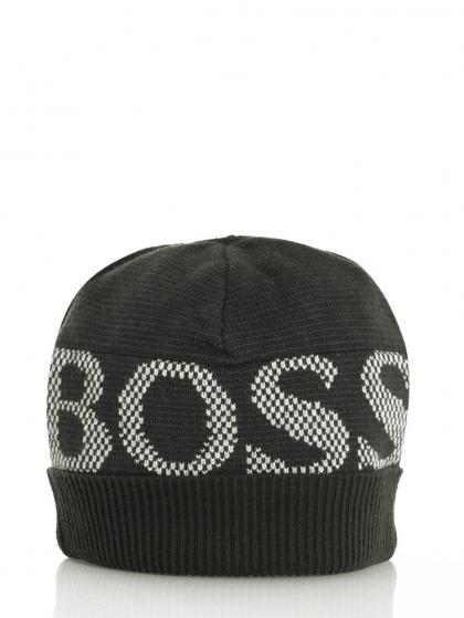 Hugo Boss Wollmütze in schwarz