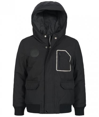 Hugo Boss Winterjacke mit Kapuze in schwarz