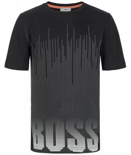 Boss T-Shirt mit Punkte-Verlauf in schwarz