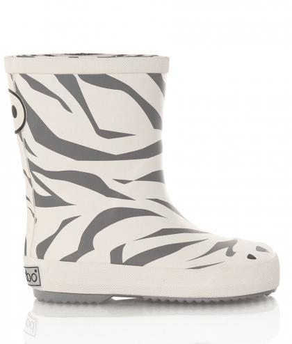 BOXBO Regenboots im Tiger-Design in weiss