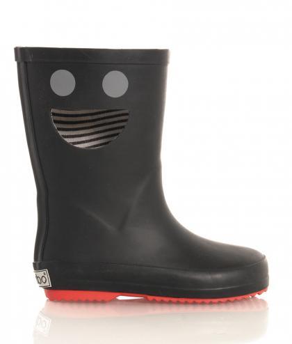 BOXBO Regenboots mit Smiley Cutout in schwarz