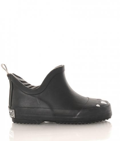 BOXBO Kerran flache Regenboots in schwarz