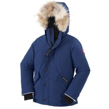 Canada Goose Youth Logan Parka in Paciffic blue
