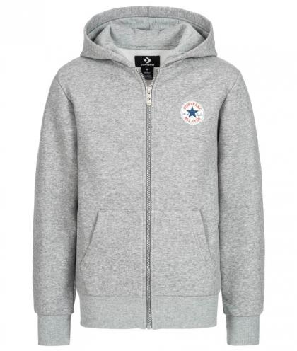 Converse Fleece Chuck Patch Zip Hoodie - grau