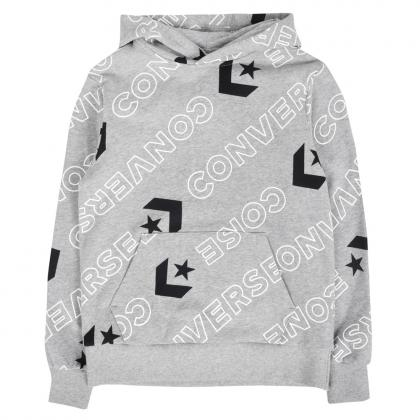 Converse Printed Hoodie with all-over print - grey