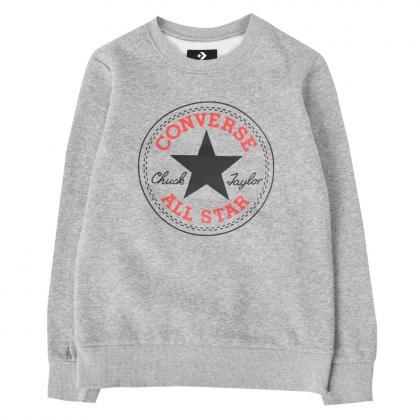 Converse Fleece Chuck Patch Crew Sweatshirt - grau