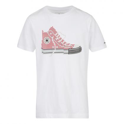Converse Chuck Pixel T-Shirt mit Print - weiß