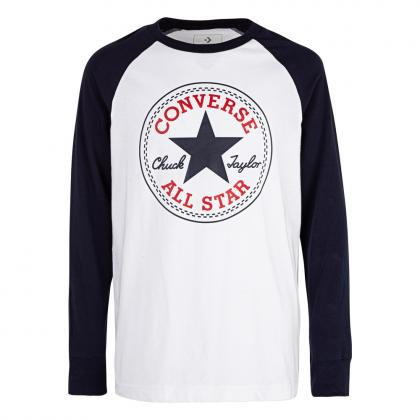 Converse chuck patch longsleeve - white