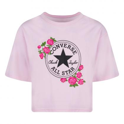 Converse Rose Chuck Patch T-Shirt - pink