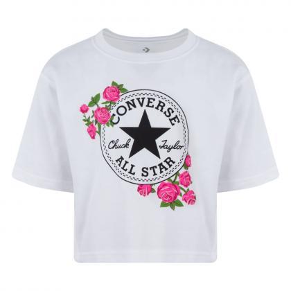 Converse Rose Chuck Patch T-Shirt - white