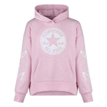 Converse Chuck taylor Script cropped Hoodie - pink