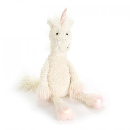 Jellycat Dainty Unicorn in weiss
