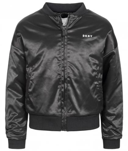 DKNY glänzende Blouson Jacke - schwarz