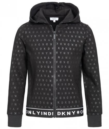 DKNY Sweatjacke mit All-over Print - schwarz