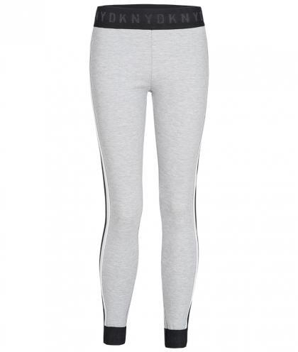 DKNY Leggings mit Track Streifen in grau-meliert