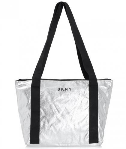 DKNY Tragetasche in silber