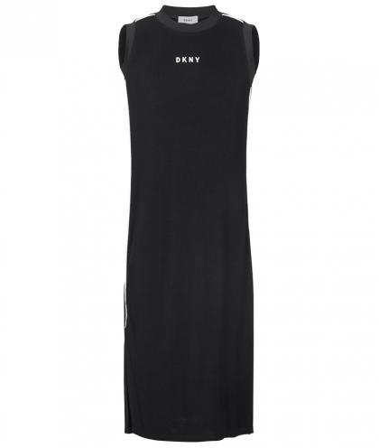 DKNY langes Kleid in schwarz