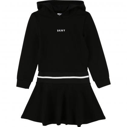 DKNY Kapuzenkleid  in schwarz