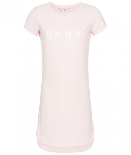 DKNY langes Basic-Kleid in rosa