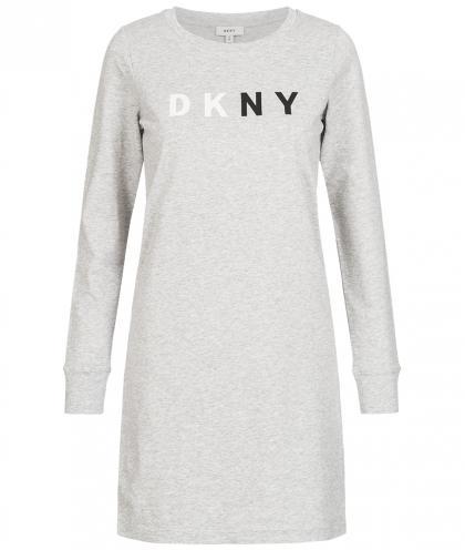 DKNY Shirtkleid in grau-meliert