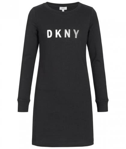 DKNY Shirtkleid in schwarz