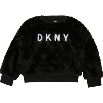 DKNY Fake Fell Sweatshirt - schwarz