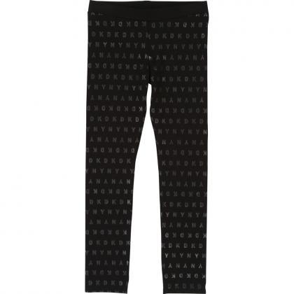 DKNY Leggings mit All-Over Print - schwarz