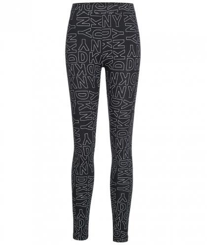 DKNY Legging mit Alllover Print in schwarz