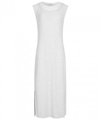 Kleid mit weissem  Untershirt in grau