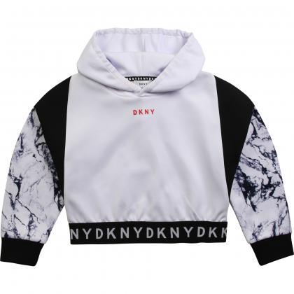 DKNY Sport Kapuzen Sweatshirt - weiß