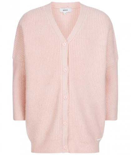 DKNY Oversize Strickjacke in rosa