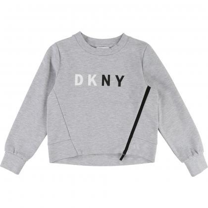 DKNY Logo Sweatshirt in grau-meliert